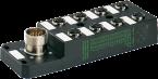M12 distrib. 8 vie 5 poli senza LED CNOMO