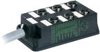 distributore M12 6 vie, 5 poli senza LED