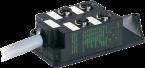 M12-distributore 4 vie, 5 poli senza LED