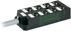 M12-distributore 8 vie, 5 poli senza LED