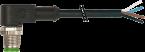 M12 mas. 90° 4 poli con cavo