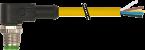 M12 mas. 90° 5 poli con cavo
