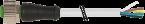 M12 fem. 0° 5 poli con cavo