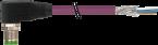 M12 mas. 90° con cavo CANopen/DeviceNet