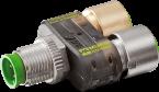 el. a T slimline LED M12 m.5p/2x M12 f.4p