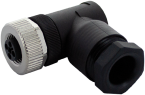 M12 female 90° t-coded field-wireable