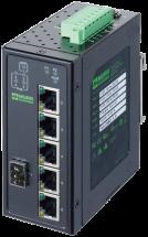 6 porte unm Gb Switch 4 porte PoE 1 SFP