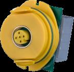 Modlink M12 A-code morsetti a molla giallo