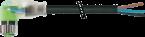 M8 fem. 90° con cavo, LED