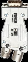 M12/D-Sub adattatore Profibus 180°