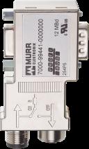 M12/D-Sub adattatore Profibus Mini 90°