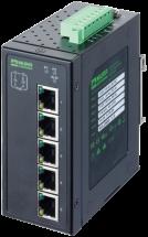 switch unm 5 porte Gb 4 PoE IP20 metal 48 V