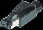 RJ45 conn. cavo Ethernet mas. 0° 4p sch.