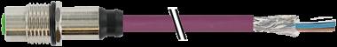 M12 fem. a flangia att. post. CANopen/DN
