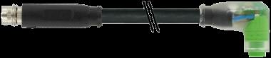 M8 spina dir. / M8 presa angol. snap-in con LED