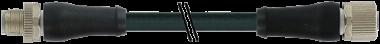M12 Power L-code mas. 0° / fem. 0°
