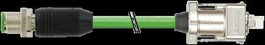 M12 mas. 0° schermato / Drive Cliq IP67