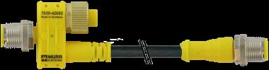 el. a T M12 m. 4 p/M12 m.+cavo 2p+M12 f. 8p