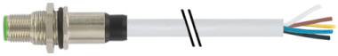 M12 conn. m. flangia A-code cavo att post