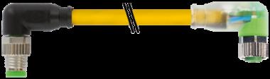 M8 spina angol. / M8 presa angol. con LED