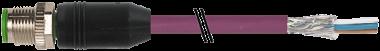 M12 mas. 0° scher. con cavo, DeviceNet
