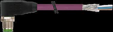 M12 mas. 90° con cavo DeviceNet