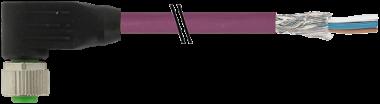 M12 fem. 90° con cavo DeviceNet