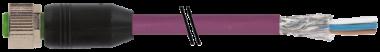 M12 fem. 0° schermato con cavo DeviceNet