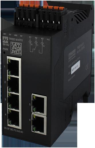 PROFINET Managed Switch 6x10/100BT IP20
