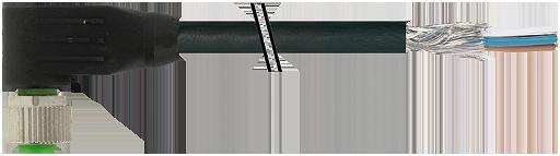 M12 fem. 90° con cavo CANopen/DeviceNet