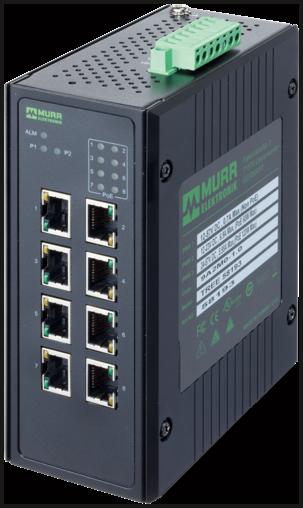 8 Port unmanaged Gigabit Switch 8 PoE Ports IP20 metal