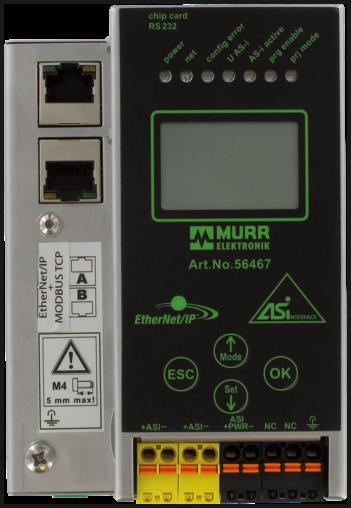Gateway PNIO/AS-I 1 Master 3.0 - RJ45