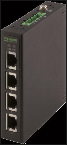 Tree 4TX metallico Unmanaged Switch 4 vie