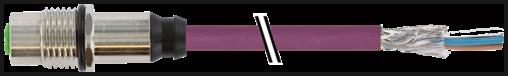 M12 conn. f. flangia sch. att.fr. DeviceNet