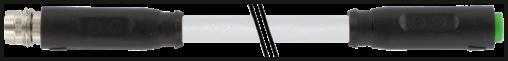 M8 mas. 0° / M8 fem. 0° snap-in