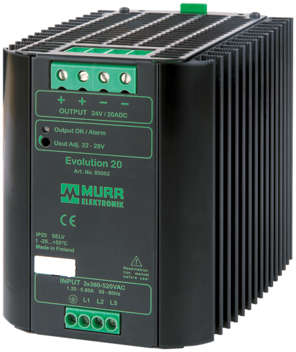 Evolution alim. switching trifase 24VDC/20A