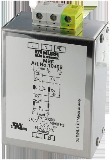 MEF filtro emc monofase 2 livelli