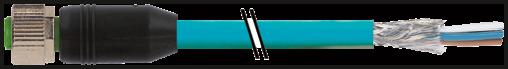 M12 fem. 0° con cavo CANopen/DeviceNet
